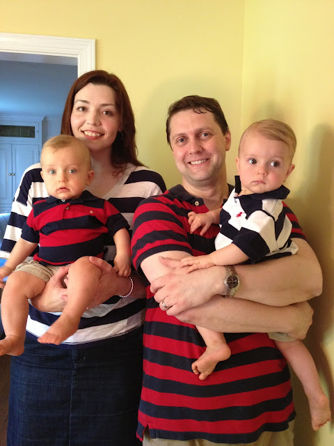 matching stripes red navy white family outfits memorial day twins