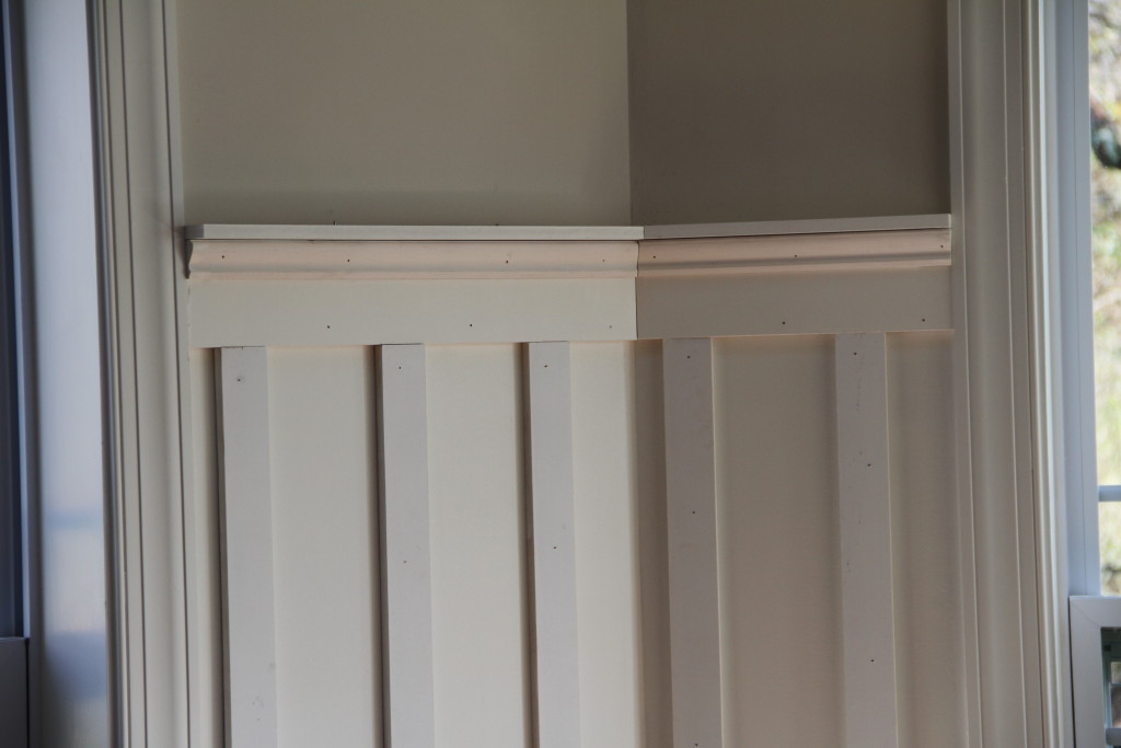 Stupendous Wainscoting With Shelf Zamp Co Largest Home Design Picture Inspirations Pitcheantrous