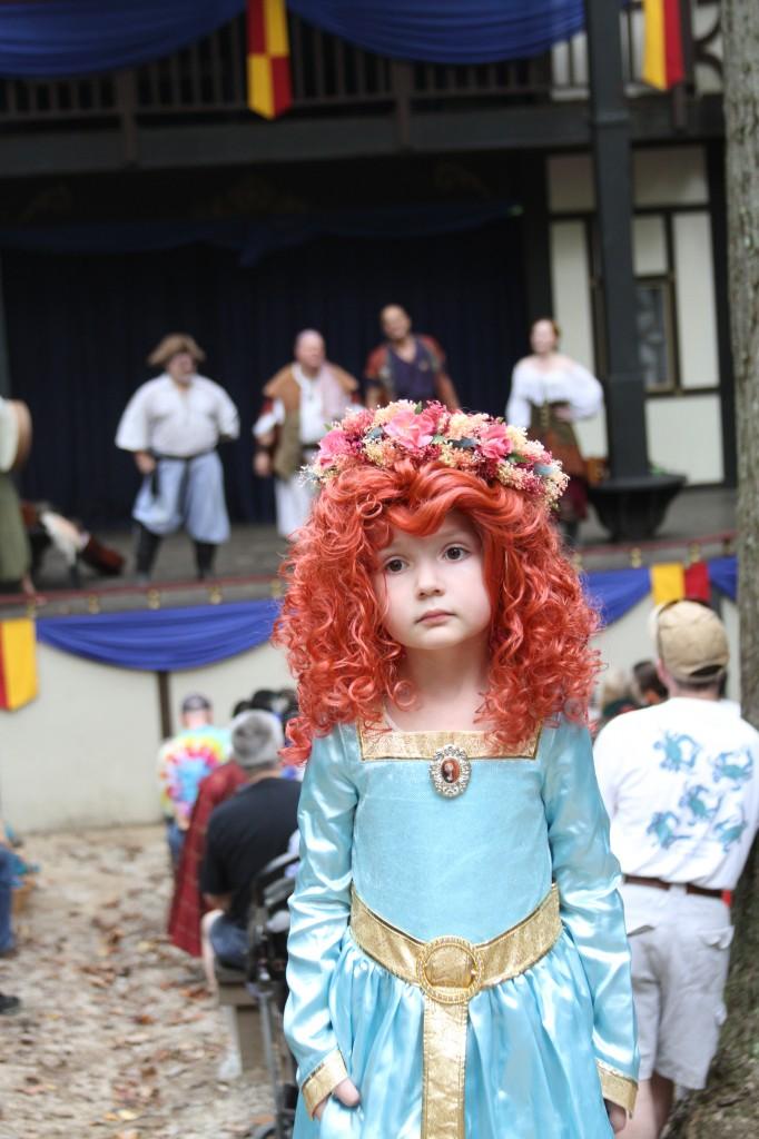 Maryland Renaissance Fair Festival Merida costume wig archery
