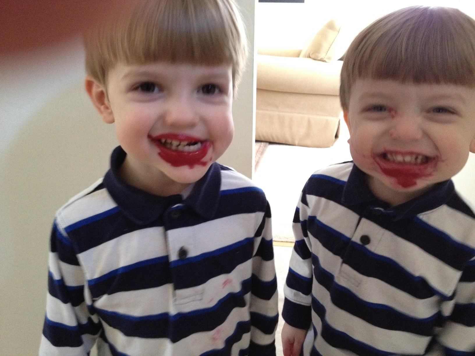 boys found my lipstick