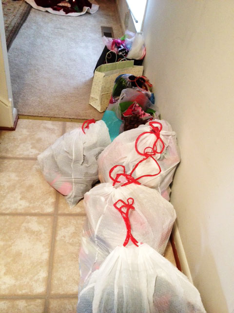 cleaning and sorting bags
