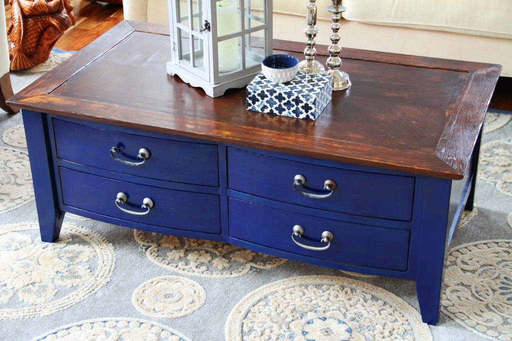 navy coffee table