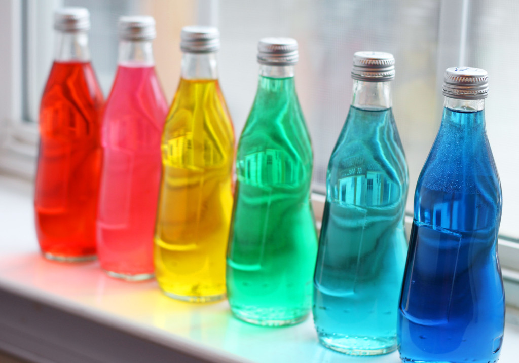 colored bottles 1