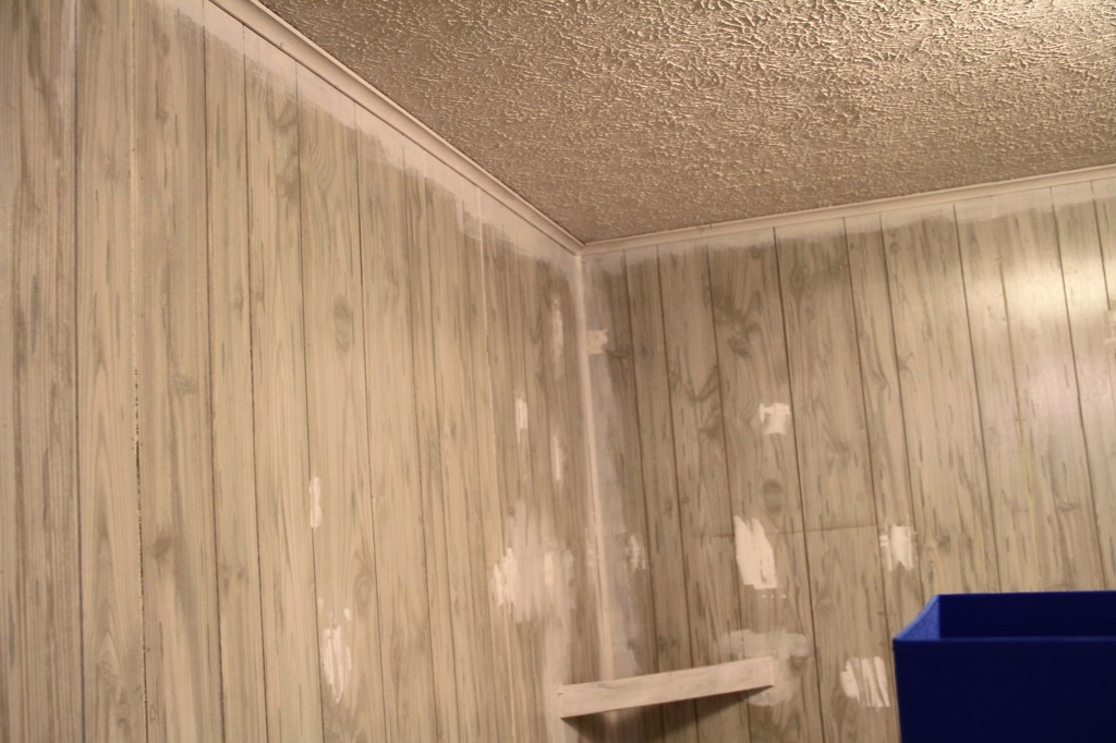Rental Improvement Painting Faux Wood Paneling Put That On Your