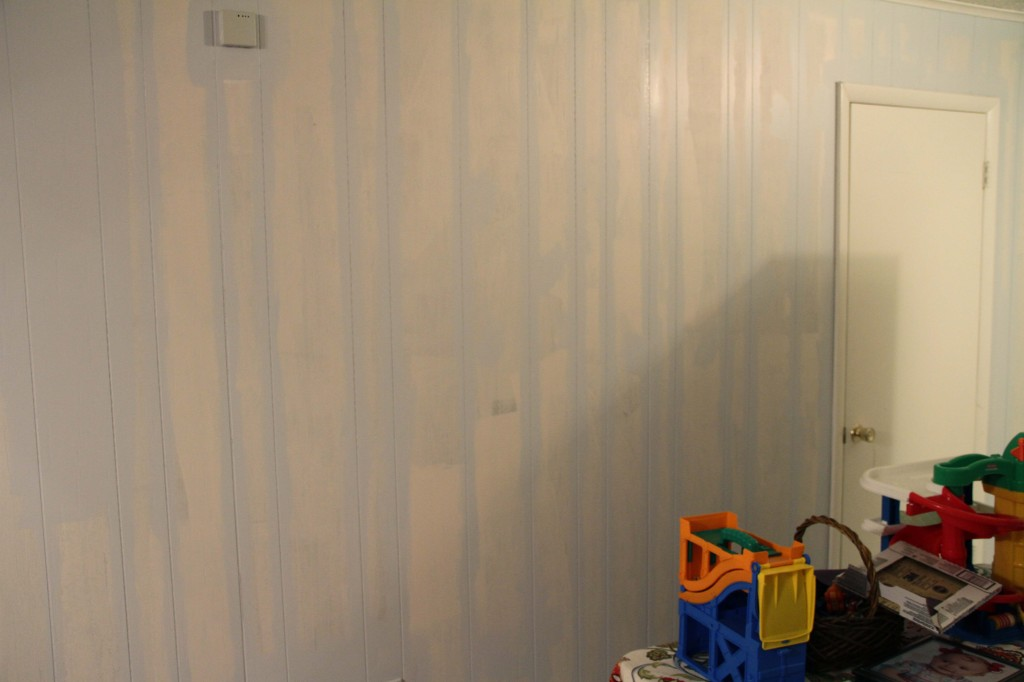 cutting in with latex over primed paneling - Rental Improvement: Painting Faux Wood Paneling Put That On Your