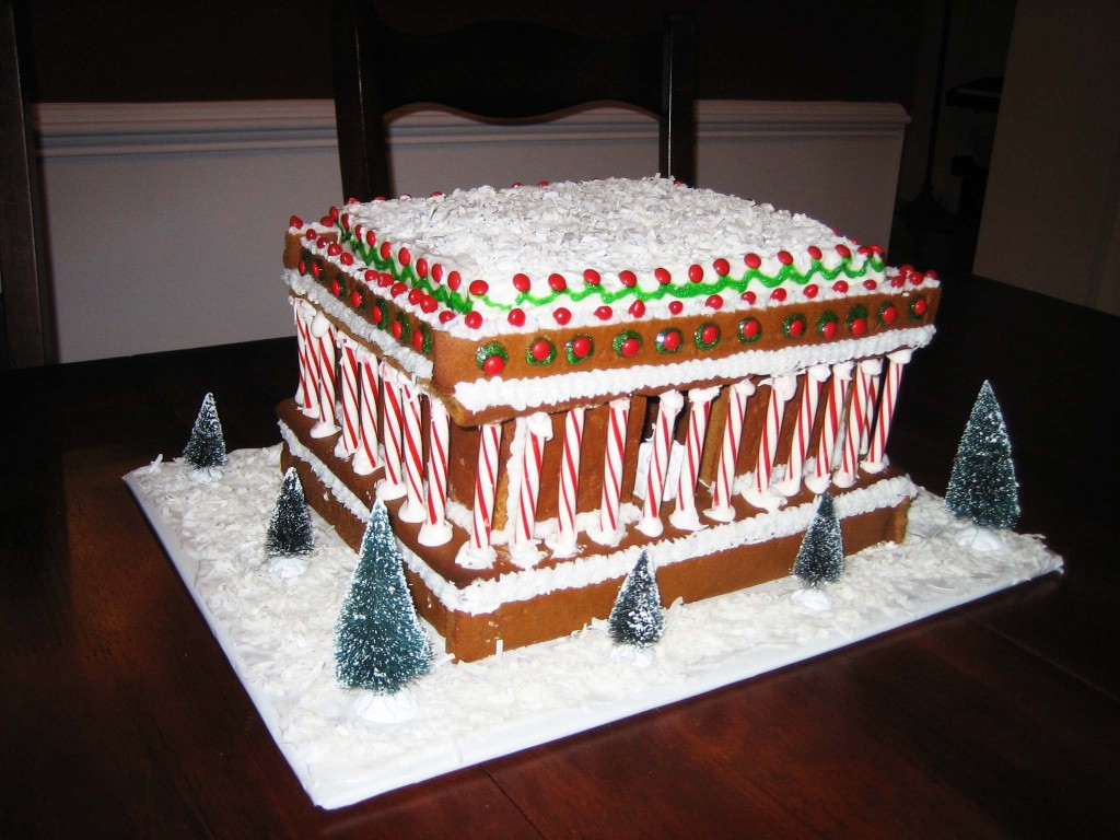 gingerbread lincoln memorial 2