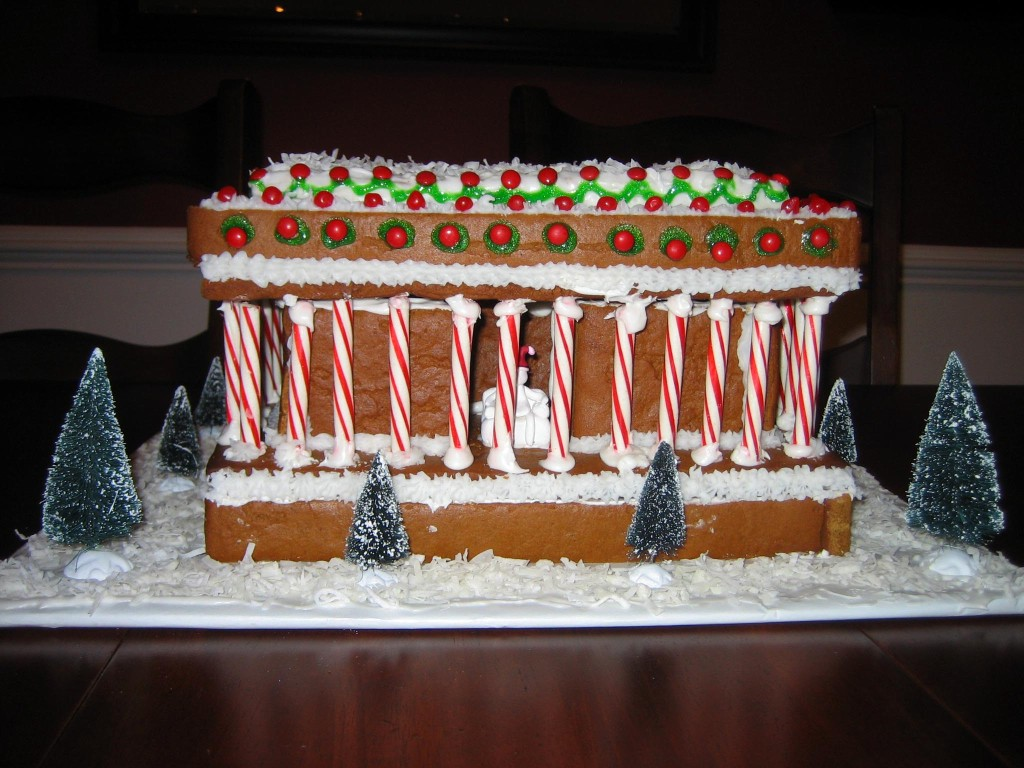 gingerbread lincoln memorial