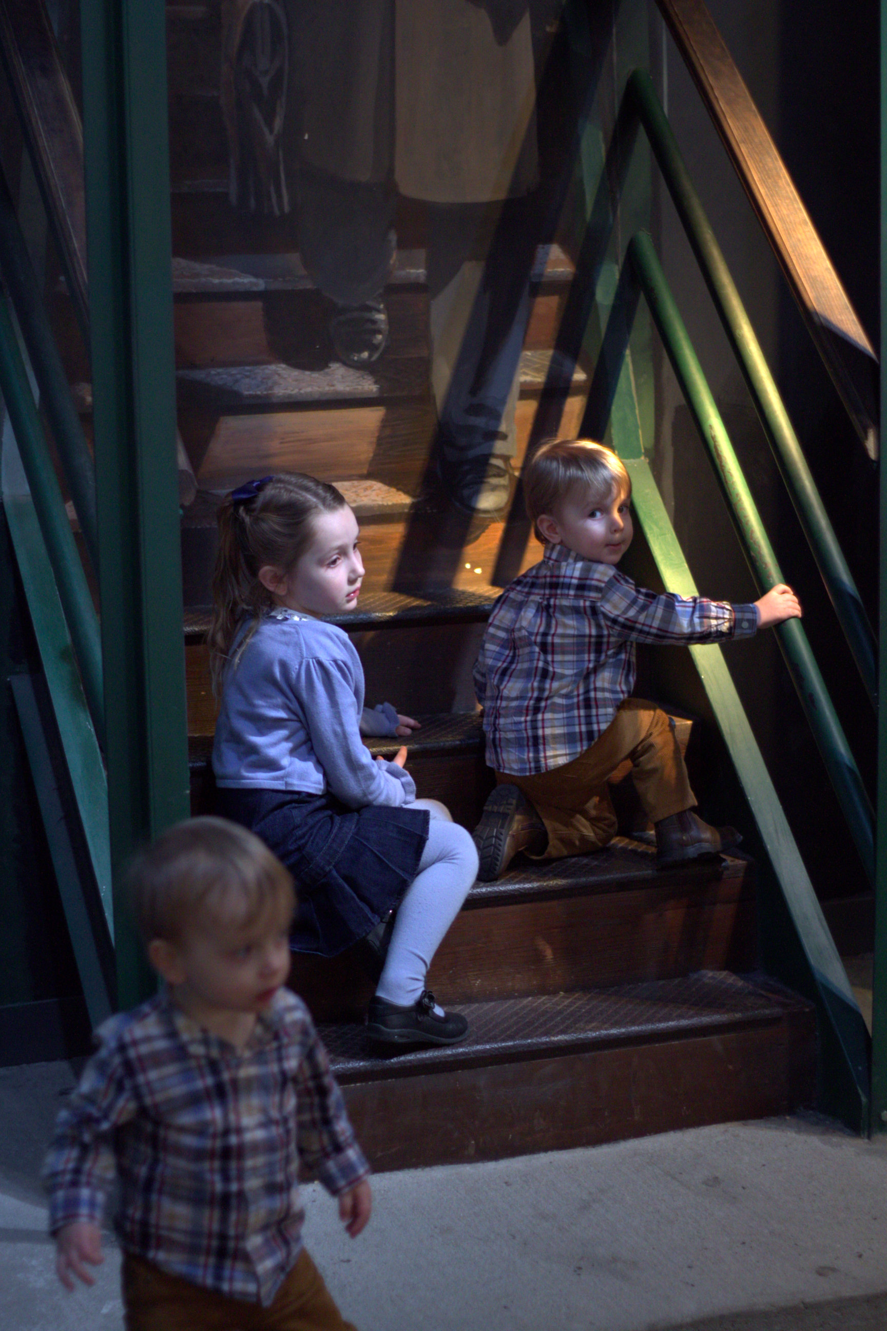 kids on stairs